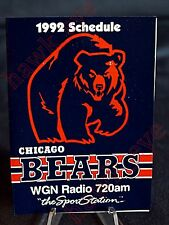 Chicago Bears 1992 Football Schedule