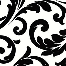 Bold Scroll Large Black & White Wallpaper VG26237P DOUBLE ROLL