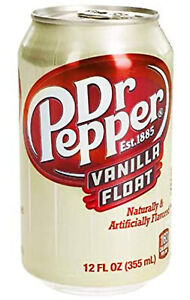 Dr Pepper Vanilla Float Cans USA Import 355ml cans x 12