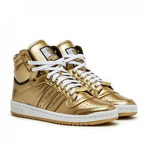 Adidas Top Ten Hi Star Wars C-3PO Gold Metallic Sneakers FY2458 Men's Size 10