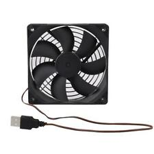 80x80mm 5V USB Cooling Fans Computer Case PC CPU Radiator + Iron Net Cover Grill