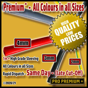 Wire Insulation Over-Sleeving PVC Tube/Tubing Red Black Grey Sheaths 2,3,4mm 1m+
