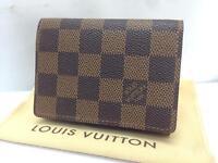 ab4219e4b2cc65 Auth Louis Vuitton Damier Enveloppe Cartes de Visite Card Case 8E021120m*