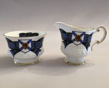 Elizabethan Nova Scotia Tartan Creamer And Sugar Bowl