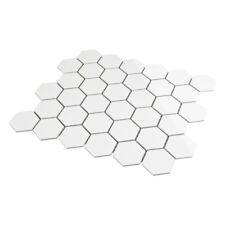 Hexagonal Hexágono Blanco Mate Azulejos Mosaico Mosaikfliesen5, 1 X 5,9 Cm