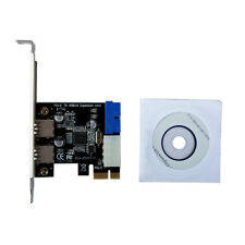 USB 3.0 PCI-E Expansion Card 2 Port Hub Internal 19pin Card 4pin Power Connector