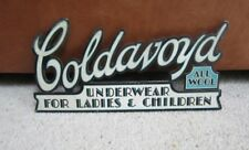 Original Advertising sign for Coldanoyd underwear, Card advert sign.