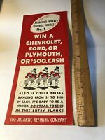 Rare Vintage 1936 ATLANTIC  REFINING COMPANY Football Contest No 1 Advertising