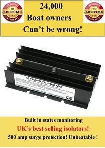 Boat/yacht galvanic isolator 70 amps built in status monitor lifetime warranty!