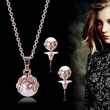 Lusso Moda Luminoso Collana orecchini set di gioielli per Donna Casual Festa SD