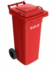 SULO Mülltonne, Mülleimer, Abfall Behälter 80 L Volumen Farbe rot NEUWARE.