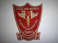 Vietnam War US 71st EVACUATION HOSPITAL HIGHLAND MEDICS Hand Sewn Patch