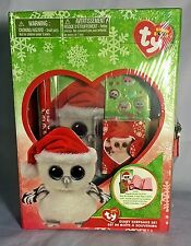 Ty Beanie Boos Tinsel Stationery Set Includes Box w/lock & Key etc FREE SHIPPING