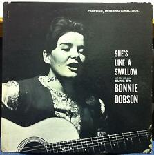 BONNIE DOBSON she's like a swallow LP VG PREST-INT-13021 RVG 1960 Van Gelder