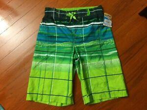 Boys ZeroXposur Microfiber Surf Shorts UPF 50+ Fluid Teal Size M-10/12 $34.00