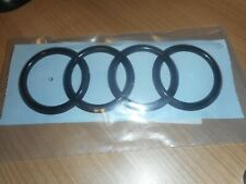 Original Audi Ringe Emblem Logo Heckklappe schwarz glänzend R8 4S7853742D T94