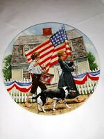 """Edwin M. Knowles China Co """"The Fourth of July"""" Americana Holidays Collection 8"""""""