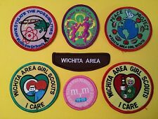 7 Wichita Area GS Girl Scouts Brownie Badge Patch Pre-Owned