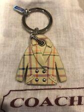 New Coach Tattersall Coat Key Chain W/ Dust Bag
