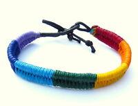 Armband Surferarmband Herren Damen geflochten Regenbogen Freundschaftsband  NEU
