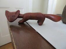 beautiful vintage wooden wood carved fox folk art native?