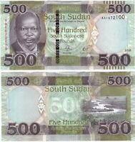 SOUTH SUDAN 500 POUNDS 2018 P 16 NEW UNC