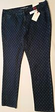 NWT Womens Land's End Mid Rise Slim Jeans Size16