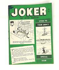 Joker Magazine Feb 1961 Bill Ward Bill Wenzel DeCarlo Humorama GGA Nudes Jokes
