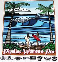 NWT Heather Brown Original Art Women Triple Crown Surfing Contest Hawaii T Shirt