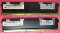 2x HP Micron 4GB 1333MHZ PC3-10600 CL9 Dual Rank ECC Server Memory 500203-061