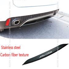 For Jaguar E-PACE 18-19 Stainless Steel Carbon fiber texture Car Rear Bumper Lip