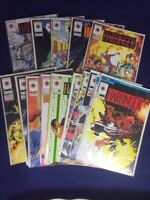 Harbinger 16 Issue Lot Valiant 1992 Includes Issue 0 Graphic Novel.