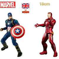 Marvel The Avengers Iron Man Action Figure Captain America PVC Model Toy Gifts