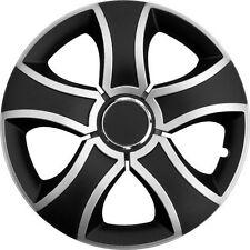 """4 x Radkappen BIS 15"""" Zoll Silver & Black Radzierblenden VW,AUDI,BMW, AUDI"""