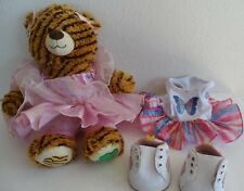 Build A Bear Girl Scout Coconut Caramel Delite Cookie Samoa Teddy + 2 outfits