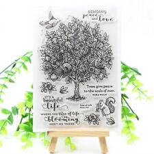 Tree Transparent Clear Silicone Stamp DIY Scrapbooking Card Making Craft Paper