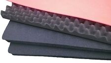 2 pieces Pelican 1720 Black replacement foam & 1 Red shadowing + Lid foam (con)