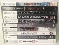 Xbox 360 Lot Of Games 10 Games Dragon Age, Resident Evil 5 (Read Description)