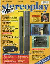 Stereoplay März Nr. 3 1994 Logan Stylos Parasound D/AC800 Denon DN2700F Luxman