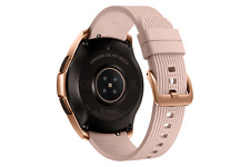 Samsung Galaxy Watch SM-R810 42mm Rose Gold Gehäuse mit Klassisches Armband in Pink Beige - Bluetooth