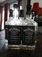 Jack Daniels Old No. 7 Empty 1.75 Liter Glass Bottle Empty with Cap