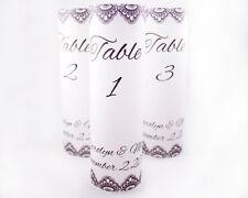 Set of 10 Table Numbers Wedding Luminaries