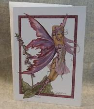 Amy Brown Fairy Foxglove Note Greeting Card Faery Fantasy Mythical