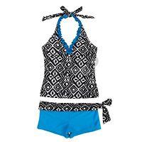 Girls Kids Tankini Set Swimwear Bikini Skirt Swimsuit Swimming Costume Age 2-14Y