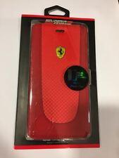 Etui Housse Iphone 7 Plus - Housse Clapet latéral en Cuir Rouge - Ferrari