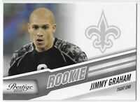 2010 PANINI-PRESTIGE JIMMY GRAHAM ROOKIE RC #257 NEW ORLEANS SAINTS