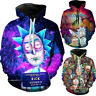 Rick and Morty Hoodie Mens Womens Hooded Hoodies Sweatshirt Pullover Jumper Tops