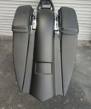 "Harley Davidson 7"" Stretched Saddlebags And Rear Fender 2009-2013 Touring Bagger"