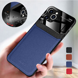 For iPhone 13 12 11 Pro Max XS XR 8 7 Case Shockproof Leather Hybrid Back Cover