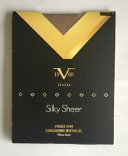Ladies Versace Silky Sheer Control Top Tights - Size M/L - BNIB
